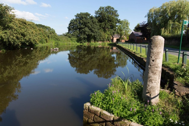 Picturesque summer view of Codddington village pond.