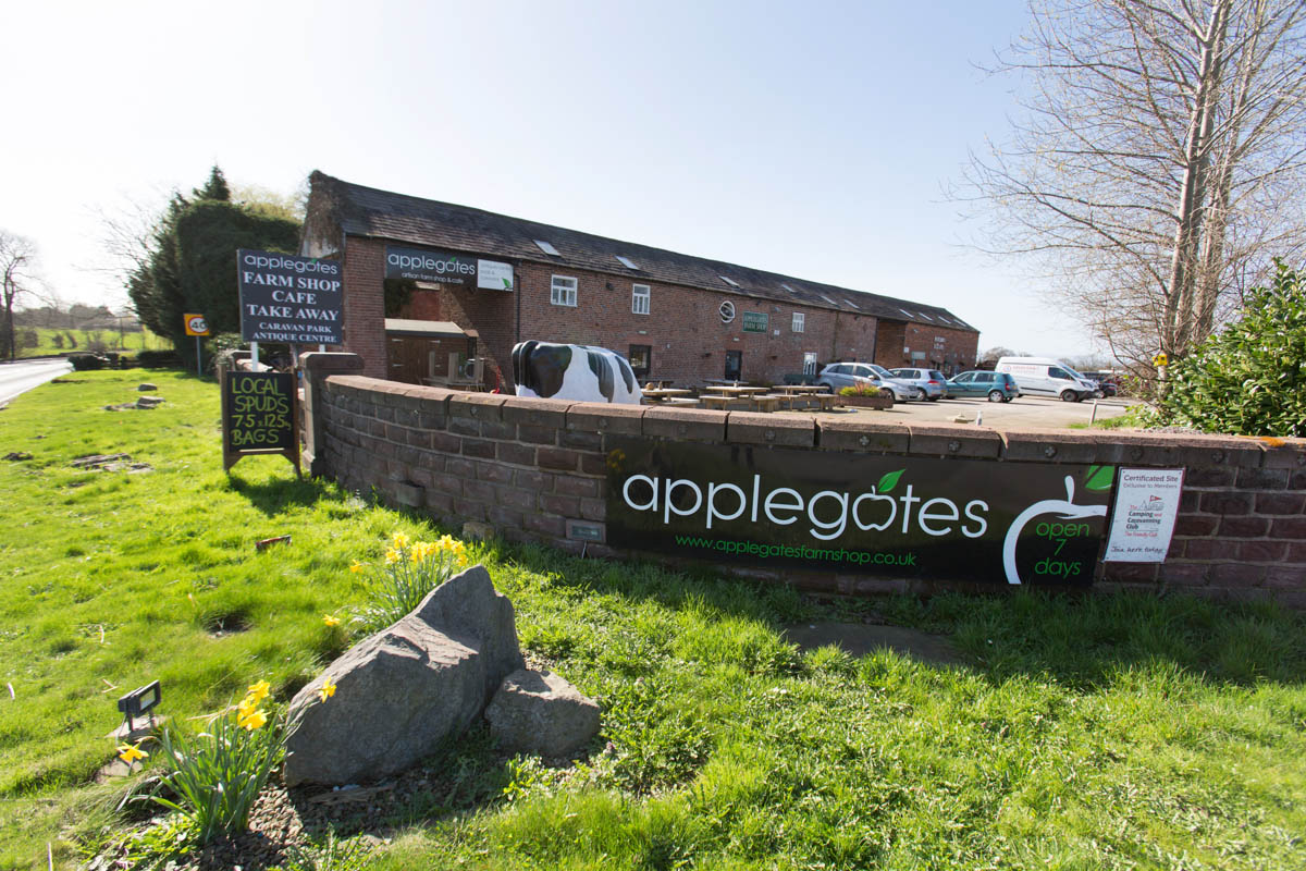 Applegates Farm Shop and Antiques on Whitchurch Road.